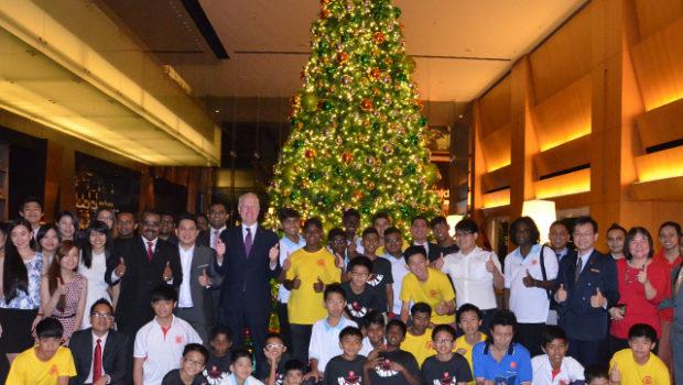 Christmas Tree in G Hotel lobby