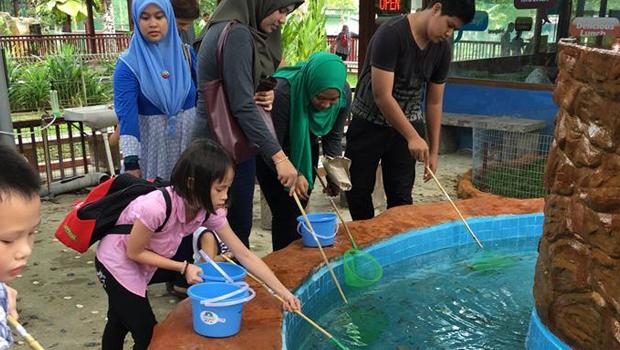 """""""Longkang"""" fishing is the in-thing @ Langkawi Wildlife Park"""