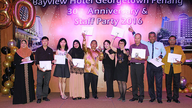 Annual bash for hotel staff