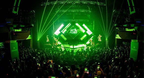 Heineken party at newest club in George Town